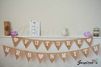 Future Mrs Personalized Hessian Bunting Burlap Banner Wedding Photo Booth DIY