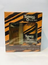 Faberge Tigress 2PC Set 1 oz Cologne + Bath Powder Shaker 2.0oz