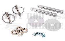 Universal Aluminum Hood Pin Latch Bonnet Flip Locking Kit Silver Chevy Ford