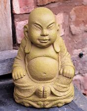 ASSIS EN PIERRE BOUDDHA Jardin Extérieur Intérieur Statue Ornement Thai 25 cm