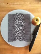JOY DIVISION  UNKNOWN PLEASURES  GLASS CHOPPING BOARD  WORKTOP SAVER 30CM