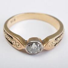 Stile liberty Anello Solitario,Diamante ~0,22ct,585/14 Carati Oro,