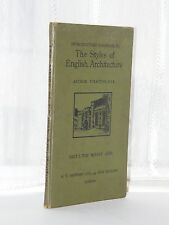 Styles Of English Architecture - Middle Ages c1940