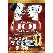DISNEY 101 DALMATIANS DVD  2-Disc Platinum Edition Animated Movie