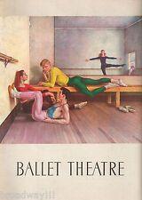 "Paul Cadmus ""BALLET THEATRE"" Alicia Alonso / Igor Youskevitch 1952 Program"