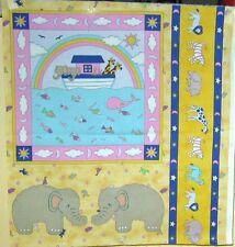 "1 Cute ""Noah's Ark"" Cotton Fabric Panel #2"