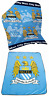 OFFICIAL MAN CITY FC FOOTBALL CLUB FLEECE BLANKET CHARACTER THROW SNUGGLE WRAP