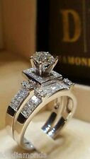 2.50CT Off White Yellow Round Cut Moissanite Wedding Ring 925 Sterling Silver 01