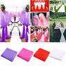 75cm*10M Top Table Chair Swags Sheer Organza Fabric Wedding-Party-Decoration AUA