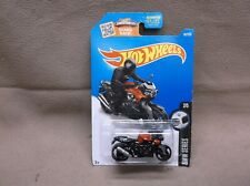 HW HOT WHEELS 2016 #187 BLACK BMW K 1300 R MOTORCYCLE CROCH ROCKET STYLE RACER