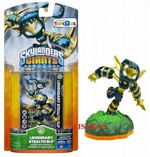 Skylanders Giants LEGENDARY STEALTH ELF Figure Card Sticker Code 2012 NEW