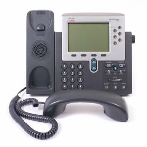 Cisco IP Telephone 7962 - Unified VoIP Corded Business Phone w/ Handset & Stand