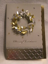 Paper magic christmas handcrafted greeting cards gift tags ebay paper magic handmade gold and silver wreath christmas greeting card new m4hsunfo