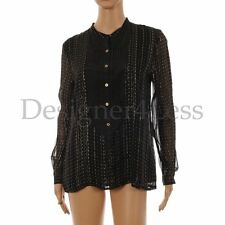 Viscose Blouse Striped Formal Tops & Shirts for Women