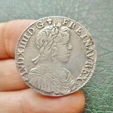 Louis XIV - Demi Ecu à la mèche longue - 1653 F  Angers