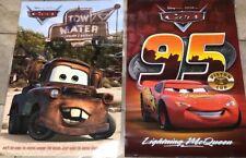 "Rare CARS Lightning McQueen Piston Mater Disney MOVIE POSTER 23""X34"" Laminated"