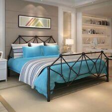3ft Single 4ft5 Double & 5ft King Black or White Metal Bed Frame Mattress Option