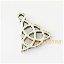 15 New Chinese Knot Connectors Tibetan Silver Tone Charms Pendants 14.5x16.5mm