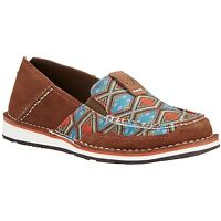 Ariat Ladies Cruiser Saddle Tan Suede/Aztec Print Shoe 10019890
