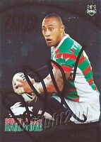 ✺Signed✺ 2009 SOUTH SYDNEY RABBITOHS NRL Card ROY ASOTASI Daily Telegraph