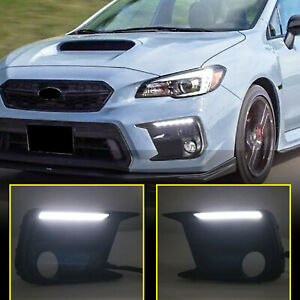for Subaru WRX STi 2018-2021 Working LED Fog Lamp Daytime Running Light 2pcs