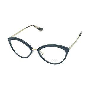 Prada Women's PR 14UV Black/Gold Eyeglasses Frames Rx 54-18-145 (Authentic)