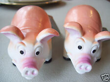 "Nature World Pair Of 2 Farm Animals Sow Mother Pig 5"" long 2"" tall with tags"