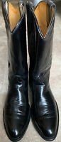 Vtg Acme Brand 9080 Black Cowboy Boots Vulcan Soles Men's Size 9.5 MADE IN USA