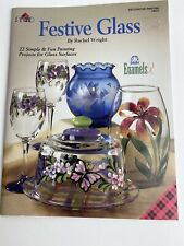 Plaid Festive Glass - Decorative Painting Rachel Wright Folk Art Enamels
