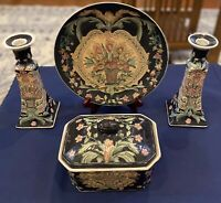 Chinese Porcelain, Hand Painted In Macau, Four Piece Collection, Beautiful