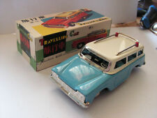 MF731 TIN TOY TRAVELLING CAR JOUET TOLE  old  60/70