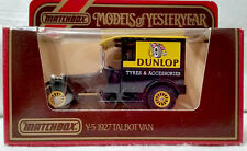 "Matchbox Models Of Yesteryear Y-5 1927 Talbot Van ""Dunlop"" 1984."