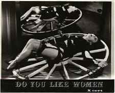 Do You Like Women Aimez-vous les femmes? Original Lobby Card woman tied to wheel