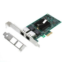 Intel 82575 Chip Dual 2 RJ45 Port LAN Gigabit Ethernet Network Card Adapter PCIE