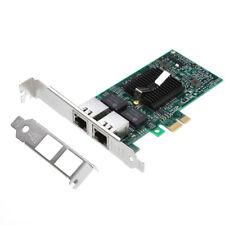 Intel 82575EB Dual 2 RJ45 Port W/Chip LAN Gigabit Ethernet Network Card Adapter