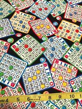 Bingo Cards Game markers Fabric Quilt Sew Cotton Timeless Treasures YD