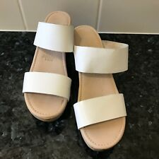 """""""WITTNER"""" SIZE """"40"""" LADIES WHITE LEATHER WOODEN CLOGS - """"WINKLE"""""""