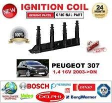 FOR PEUGEOT 307 1.4 16V 2003-ON IGNITION COIL 6-PIN with SPARK PLUG CONNECTOR