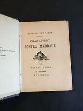 [10930-B17] Champavert - Contes Immoraux - Petrus Borel 1870