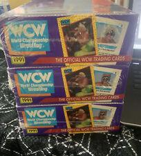 Lot of 3 1991 WCW Trading Cards sealed Box World Championship Wrestling unopened