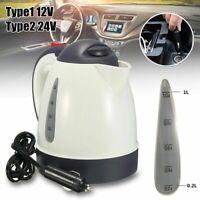 1000ml Portable Car Water Kettle Heater Warmer Travel Camping Tea Coffee 12V/24V