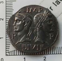 E01403 reproduction monnaie romaine dupondius ou as de Nimes fait main copy