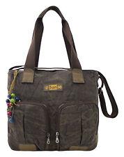 Unifarbene Damentaschen aus Canvas/Segeltuch mit Reißverschluss