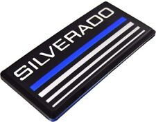 1x Cab Emblems 3d Badge Side Roof Pillar Decal Plate For Chevy Silverado Blue