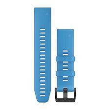 Garmin 010-12740-03 Quickfit 22 Watch Band Cyan Blue Silicone Fenix 5 Plus/5