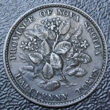 OLD CANADIAN COIN 1856 NOVA SCOTIA - HALF PENNY TOKEN - BRONZE - NS-5A1 BR876
