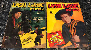 LASH LARUE #1,signed & #2 GD+ 2.5, golden age, Bullwhip trainer of Indiana Jones