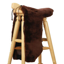 Deluxe Genuine Sheepskin Western saddle Seat Cover Saddle Saver Wst-bk USA2020