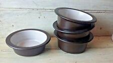 Edith Heath Ceramics BROWN & WHITE  Open Individual Casseroles (4)