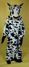 Bull Mascot Costume 6 Piece Black & White Faux Fur Farm Animal Adult  XLarge
